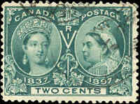 1897 Used Canada 2c Scott #52 Diamond Jubilee Stamp