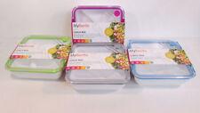 Contenitori in plastica con coperchio per il pranzo