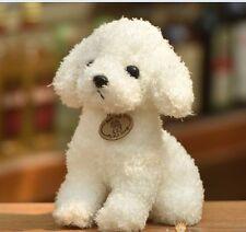 cute plush white teddy dog toy new sitting teddy dog doll gift about 20cm
