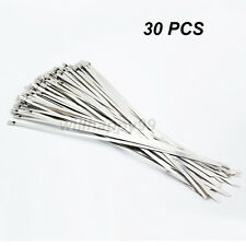 30 Pcs Stainless Steel Metal Cable Zip Ties Strap Locking Exhaust Pipe Header