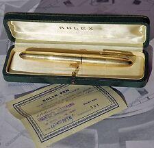 ROLEX penna stilografica d'epoca 1959 ORIGINALE con cofanetto e certificato