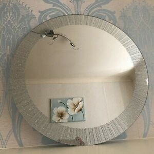 New 50cm Large Round Wall Mounted Mirror Frame less for Bathroom and Living Room
