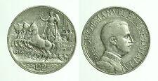 pci0468) Regno Vittorio Emanuele III Lire 2 Quadriga veloce 1910 Rara