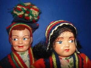 Vintage Artist Hilda Ege LAPLAND SAMI Male & Female Dolls Norway 1950s-on