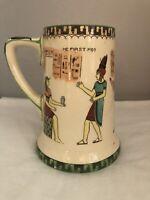 Vintage Royal Doulton Egyptian Pottery Series Ware Tall Jug Very Rare !!!