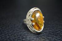 vintage Ring Bernstein 835 Silber / a54