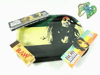 SMOKING MINI TRAY SET PLASTIC GRINDER BOB MARLEY ROLLING PAPERS J HOLDER POT UK