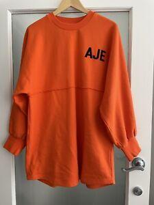 AJE Orange Black Logo Long Oversize Jumper As New S