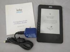 "Kobo eReader Tablet N289 Black WiFi Wireless 6"" Screen Bundle Charger & Manual"