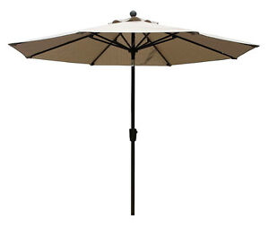 9  ft Umbrella  Sesame Beige or Walnut color color.