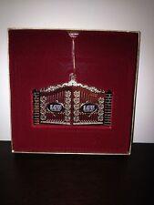 K) NIB ChemArt Collectible LSU Louisana TIGERS Gates Christmas Ornament 24K