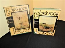 FABRE'S BOOK OF INSECTS, E.J. Detmold,1935 WITH DUST COVER AND PRESENTATION BOX
