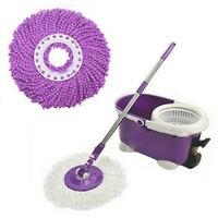 Easy Magic Floor Mop 360° Bucket  Heads Microfiber Spin Spinning Rotating Head