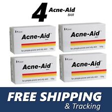 4 x Stiefel Acne-Aid Bar 100g pimple-prone and oily skin Acne Aid Soap EXP:02/20