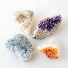 Amethyst Citrine Celestite Crystal geodes Purple Gold Blue collection 1ech