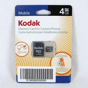 Kodak Memory Card for Camera Phones 4GB Micro SDHC Adapter New