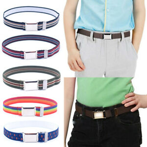 BKpearl 6 Pcs Kids Elastic Belt Adjustable Stretch Belt with Buckle for Boys Girls