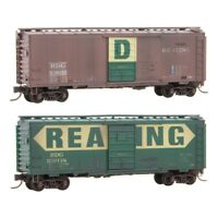 Reading RDG 40' Standard Box Cars 2 Car Set Weathered MTL# 020 44 167 N Scale