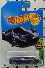 2017 17 BLUE PAGANI HUAYRA ROADSTER SPORTS CAR 290 4 HW HOT WHEELS