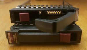 "Lot of 2 HP 500223-001 2.5"" SAS SATA Hard Drive Trays"