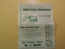 Green Ocean Apartments Miami Beach Florida vintage brochure