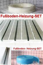 40 m² 25 cm Abs.SET-Fußboden-Heizung Platte-Trockenbau Rohr Wärmeleitblech 2cm