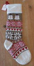 New Pottery Barn Kids Classic Fair Isle SNOWMAN Christmas Holiday Stocking
