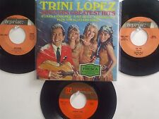 LOT OF 4 ' TRINI LOPEZ ' HIT 45's+1PS             THE 60's!