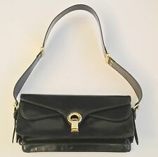 Navy Blue MARC JACOBS Leather Shoulder Bag, 5 x 11 x 4 in, 11.5 in drop
