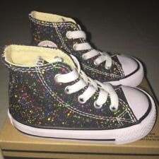 Shiny Blue Leather Sincere Converse Youth Size 1 Clothing, Shoes & Accessories