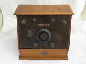 OLD 1920'S BBC MERRITONE WIRELESS / RADIO