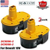 2X 18 Volt Battery For DEWALT DC9096-2 DC9098 DC9099 DW9096 18V Cordless Tools