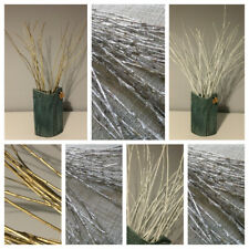 Willow branches, Gold, White, Silver, Set of 50 pcs,Wedding table decor, 40cm -