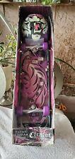 "Christine ""Bare Bonz"" Skateboard & Tiger Helmet w/Aggressive Graphics~Msrp $99"