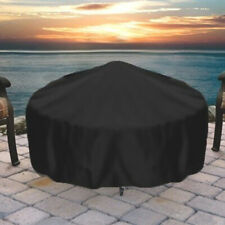 """Sunnydaze Protective Fire Pit Cover Round Durable Weather-Resistant -Black - 60"""""""