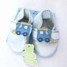 Child Of Mine Carters Baby Shoes Crib Nb Newborn Blue Boys Train Soft