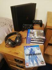 Sony PlayStation 4 ps4 Pro 1TB Consola 7 Juegos Consola en gran condición Paquete