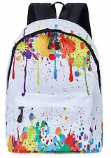 Casual Daypacks Girls Funny Tie Dye 3D Printed White Fashion School Bags Lightwe