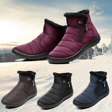 Women Winter Waterproof Shoes Snow Boots Fur-lined Slip On Warm Ankle US Size