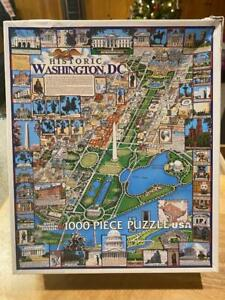 "White Mountain ""Washington D.C."" 1000 Piece Jigsaw Puzzle 2010 Missing 4 Pieces"