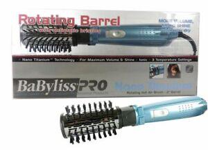 "NEW! BABYLISS PRO TITANIUM 2"" ROTATING HOT AIR BRUSH HAIR STYLER BLUE # BABNT178"