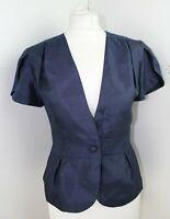 KALEIDOSCOPE Navy Blue fitted short sleeve evening jacket  Size 12 BNWT