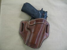 Beretta 92, 96, M9, 92F, 92FS OWB Leather 2 Slot Molded Pancake Belt Holster TAN