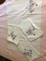 VINTAGE STYLE HAND EMBROIDERED FLOUR SACK TOWELS,HOUSE WIFE