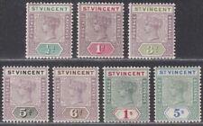 St Vincent 1899 Queen Victoria Part Set to 5sh Mint