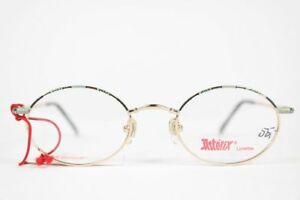 Vintage Asterix Kinderbrille AS 67 C2 44 20 120 Oro Ovale Occhiali NOS
