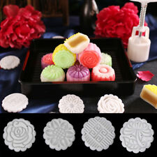 50g 4 Flower STAMPS Round Pastry Moon Cake Mold Mould Cookies Mooncake Decor