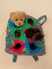 Jackpopz backpack bag toy stuffed animals plush friends backpack w/ 2 friends