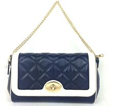 NWT COACH QUILTED CALF LEATHER MINI RUBY IN MIDNIGHT/CHALK F37723 RETAIL $450