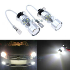 2X High Power Cool White H3 100W LED Projector Bulbs For Fog Light Driving Lamp